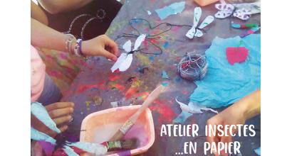 Woka loisirs - Atelier - Insectes en papier